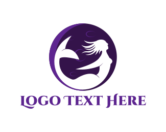 Siren - Moon Mermaid logo design