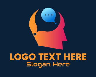 Live Chat - Idea Chat Bubble logo design