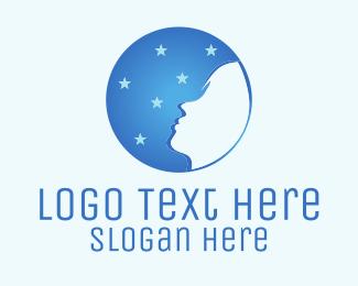 Sleep - Moon Face logo design