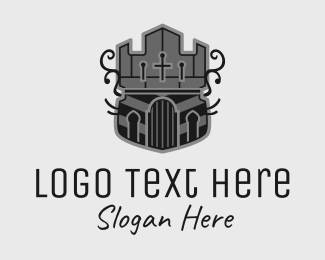 Shield - Medieval Castle Emblem  logo design