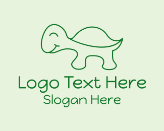 Cartoon - Happy Turtle Cartoon logo design