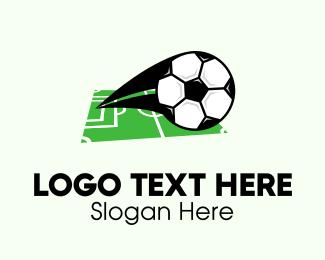 Strike - Soccer Ball Field logo design