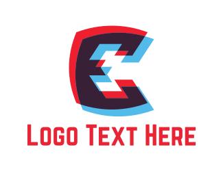 3d - Letter E logo design