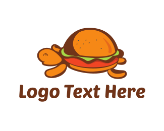 Burger - Turtle Burger logo design