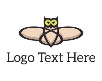 Atom - Atomic Owl logo design