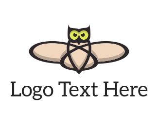 Molecule - Atomic Owl logo design