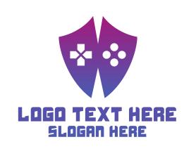Geek - Game Controller Shield logo design