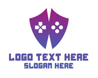 Youtube - Controller Shield logo design