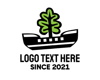 Canoe - Eco Boat  logo design