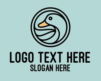 Duck - Duck Duckling logo design
