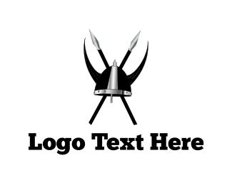 Scandinavian - Viking Clan Helmet logo design