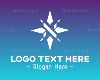 Antartica - White Star Compass logo design