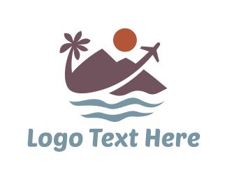 Hawaii - Tropical Travel  logo design