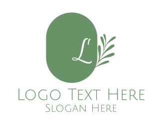 Chic - Wellness Lettermark Leaves logo design