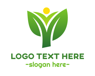 Popcorns - Sun Corn Leaf logo design