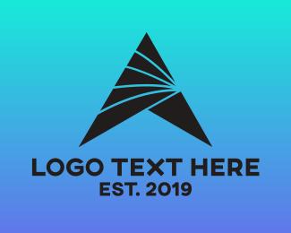 Aerospace - Futuristic A Triangle logo design
