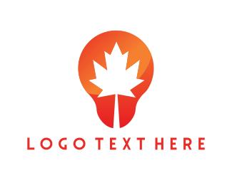 Autumn - Canadian Bulb logo design