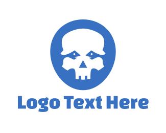 Aged - Snake Skull logo design