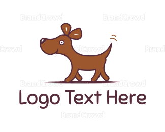 Dog Walking - Happy Dog logo design