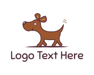Puppy - Happy Dog logo design