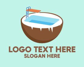 Holiday - Coco Swimming Pool logo design
