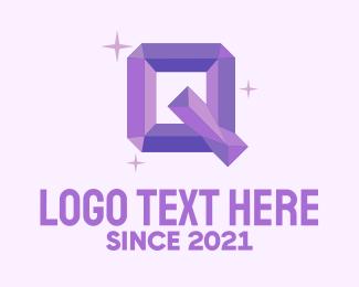Accessory - Shiny Gem Letter Q logo design
