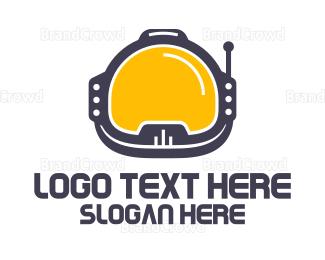 Spaceman - Astronaut Helmet logo design