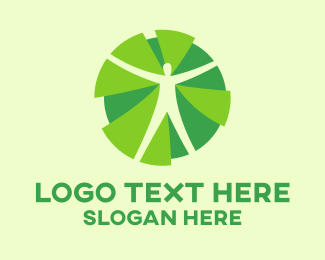 Wellness - Man Silhouette logo design
