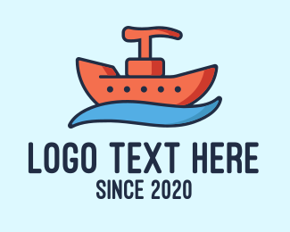Toiletry - Liquid Sanitizer Boat logo design