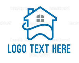 Dentistry - Blue House Tooth  logo design