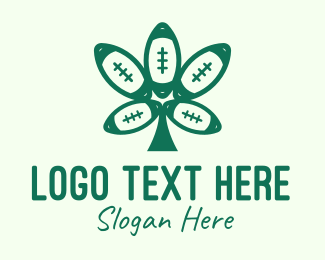 Football Tournament - Green Football Cannabis logo design