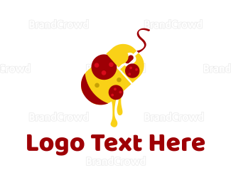 Italian Food - Pizza Mouse logo design