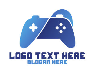 Nintendo - Blue Curvy Gaming logo design