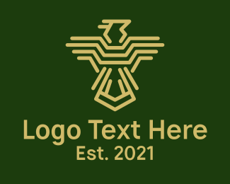 Military - Gold Military Bird logo design