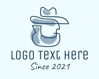 Mobster -  Blue Cowboy Detective logo design