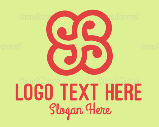 Rotate - Black Flower logo design