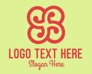 Spiral - Black Flower logo design