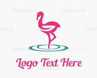 Hair - Flamingo Care logo design
