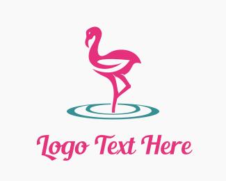 Swan - Flamingo Care logo design