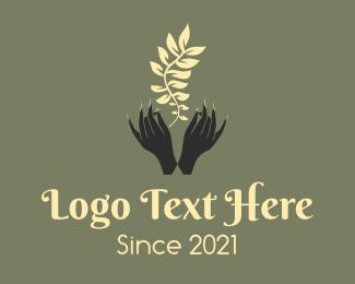 Ornamental Plants - Feminine Florist Hands  logo design