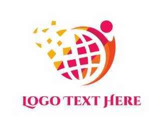 Sphere - Human & Globe logo design
