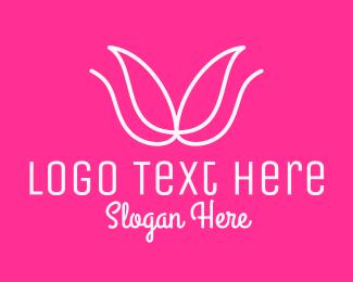 Organic Product - Minimalist Flower Bud logo design