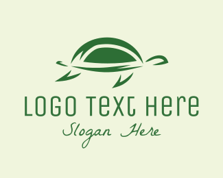 Zoo Animal - Simple Green Turtle logo design