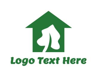 White House - White Leaf House logo design