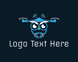 Wifi - Owl Drone logo design
