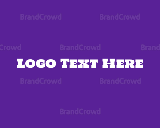 Kids - Purple & White Block Text logo design