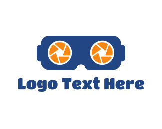 Vr - Photo VR Gaming logo design