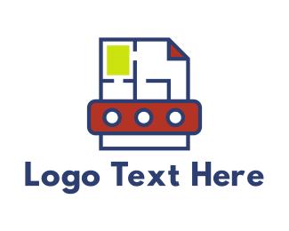 Blueprint - Modern Page Layout  logo design