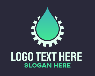 Gas Station - Plumber Water Gear logo design