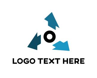 Manufacture - Blue Arrows logo design